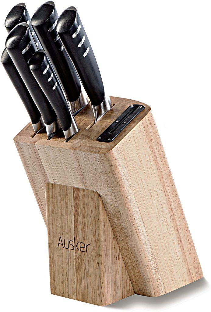 Ausker - Set de 6 couteau cuisine en acier inoxydable